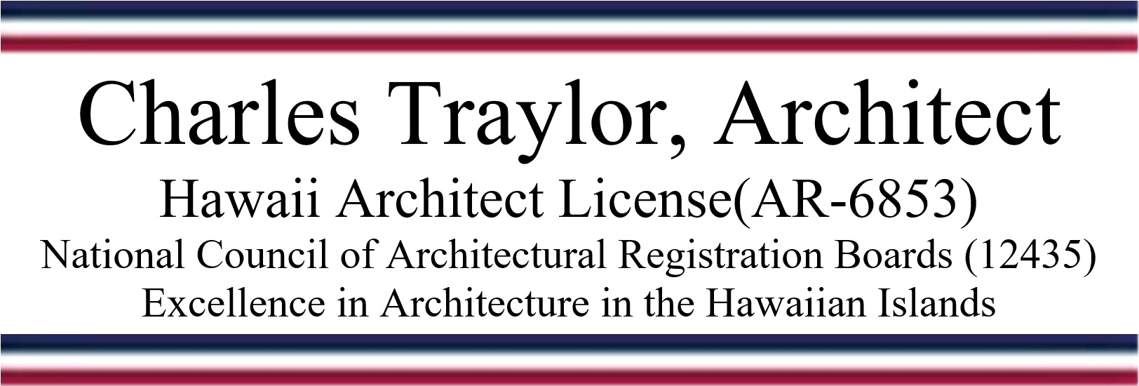 Charles Traylor, Architect